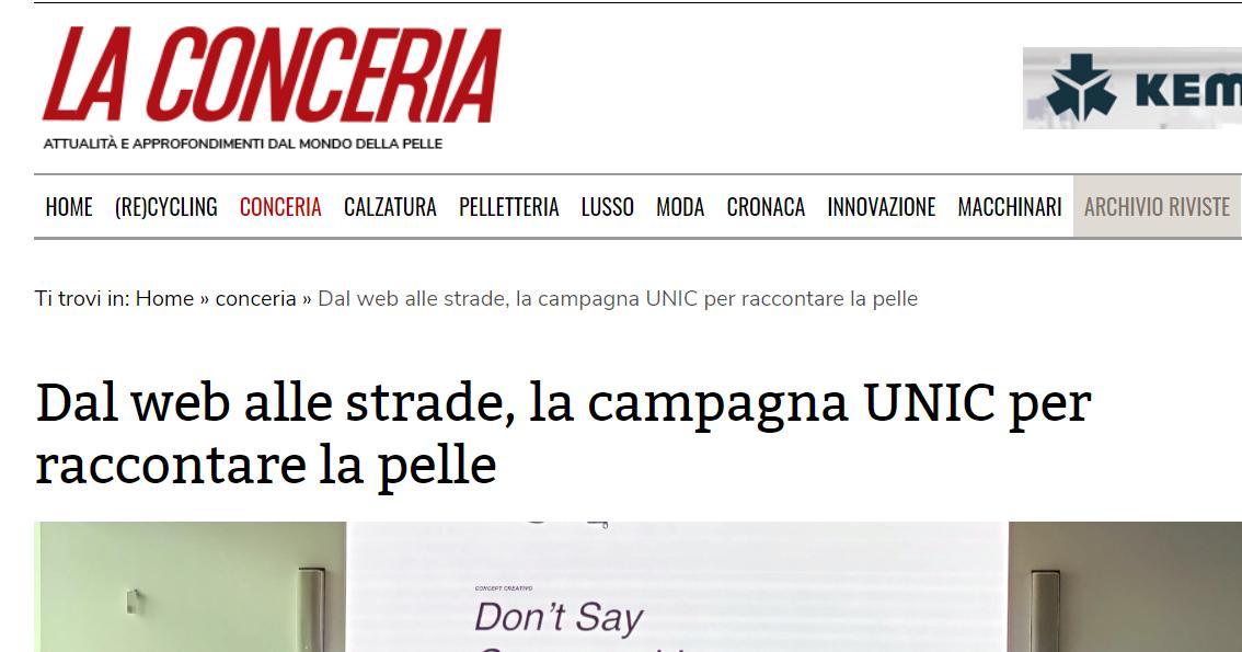 Dal web alle strade una iniziativa di UNIC